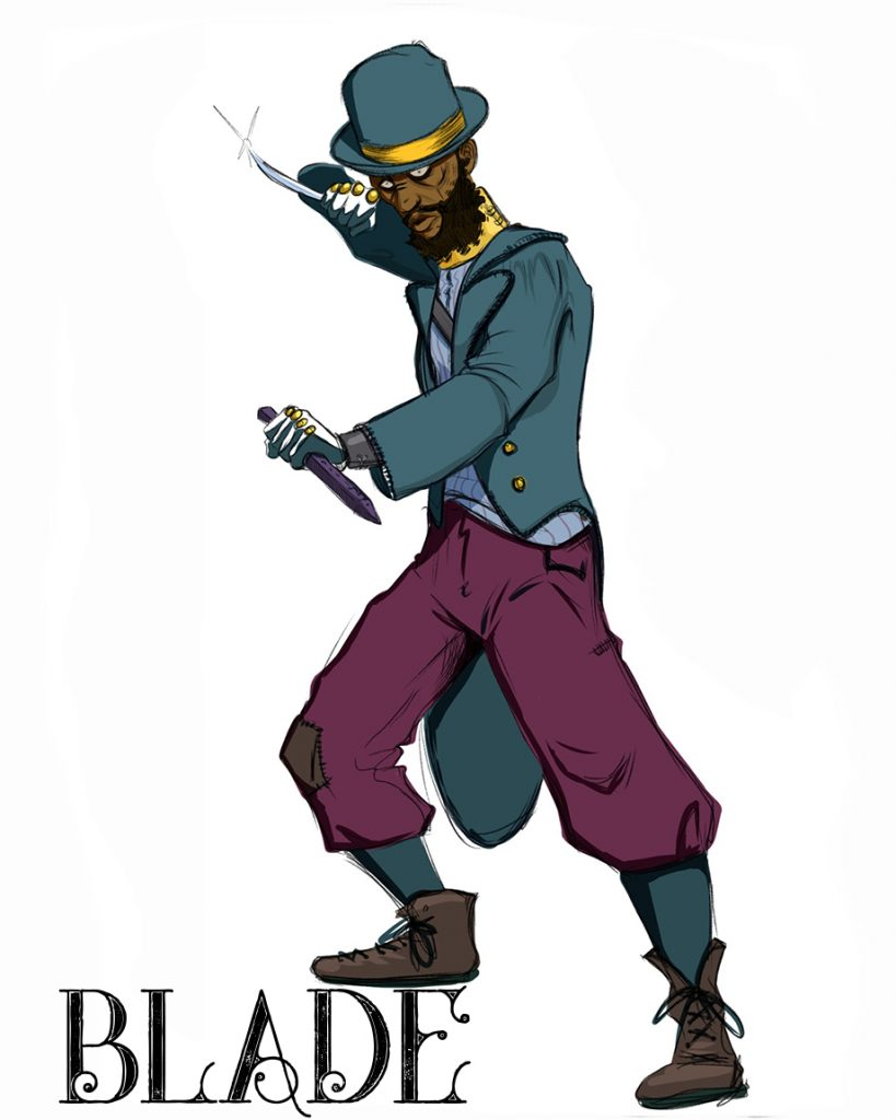 Blade: Dan O'Brien Illustration