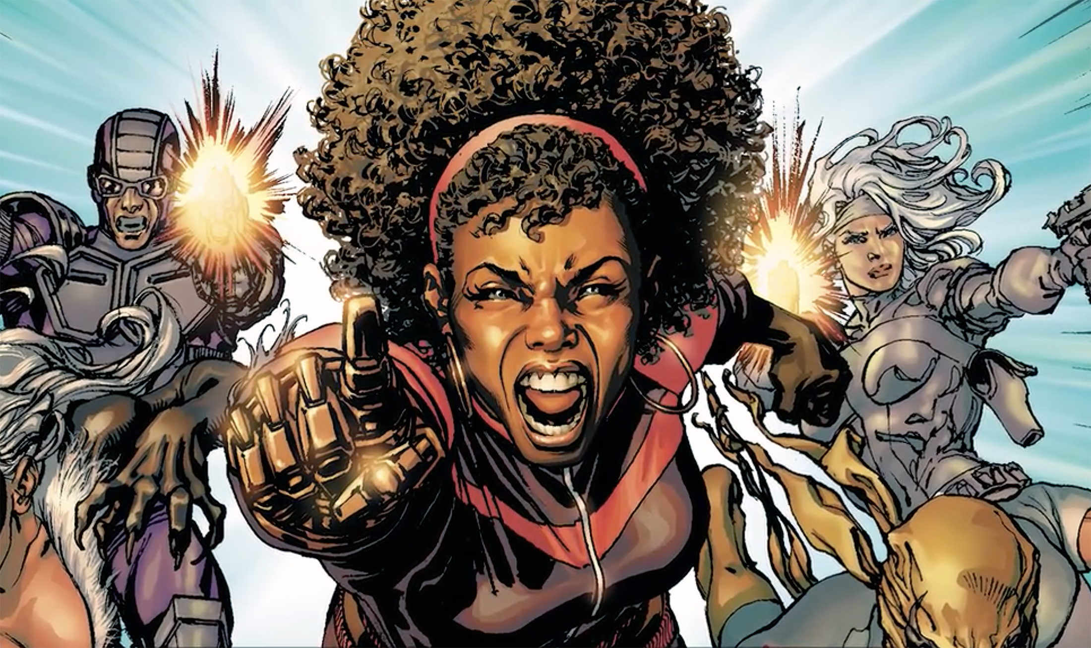 Black Characters With Metal Arms - Misty Knight